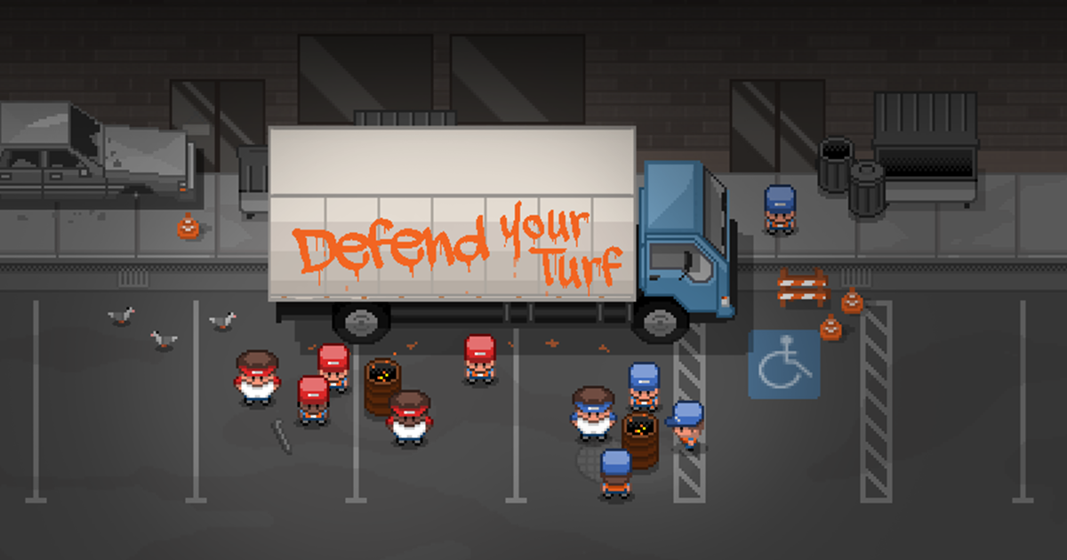 Defend Your Turf - an action strategy beat 'em up, coming soon to iPhone and iPad.